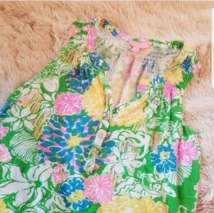 Lilly Pulitzer green Essie sleeveless top medium
